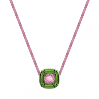 Collier femme swarovski collection Dulcis vert et rose