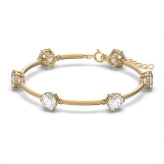 Bracelet CONSTELLA Swarovski en métal doré