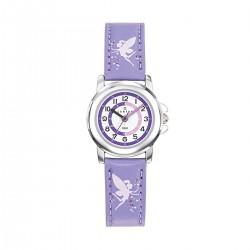 Montre Certus fille bracelet cuir violet motif fée