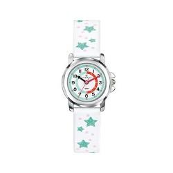 Montre Certus fille bracelet cuir blanc motif étoile