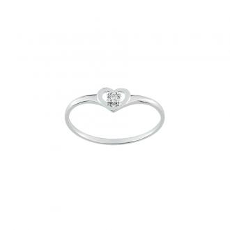 Carador - Bague Or 375/000 et Diamant 0,01 carats
