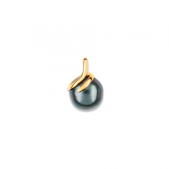 Carador - Pendentif spirale Or jaune 375/000 et Perle Tahiti