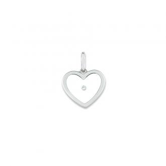 Pendentif Carador Or blanc 375/000 Diamant 0,01 carats