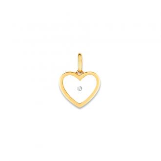 Pendentif Carador Or jaune 375/000 Diamant 0,01 carats