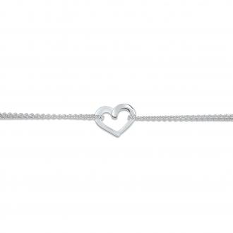 Bracelet souple Carador coeur Argent 925/000