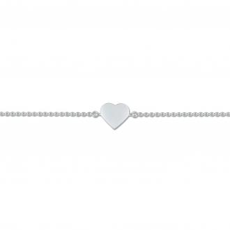 Bracelet Carador chaine et coeur plein Argent 925/000