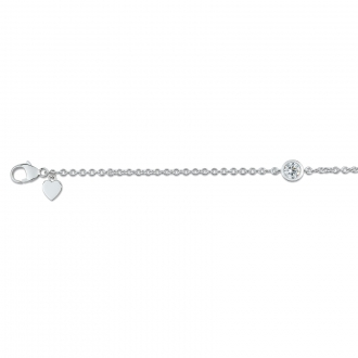 Bracelet Carador chaine Argent 925/000, Oxyde de Zirconium