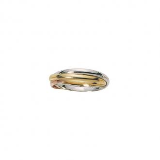 Alliance trois ors 375/000, trois anneaux entrelacés