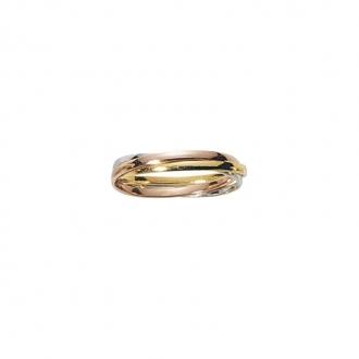 Alliance trois anneaux trois ors 750/000, 1.5 mm