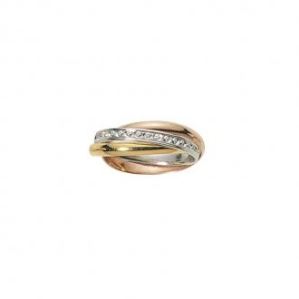 Alliance trois anneaux trois ors 750/000,  2.5mm