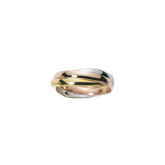 Alliance trois anneaux trois ors 750/000, 2.5 mm