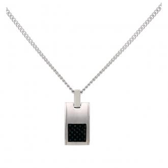 Phebus - Collier Acier et carbone 72-0003-N