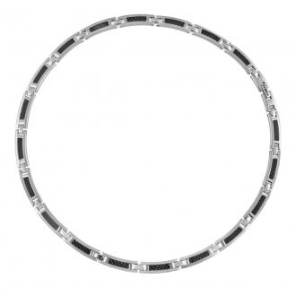 Phebus - Collier Acier et carbone