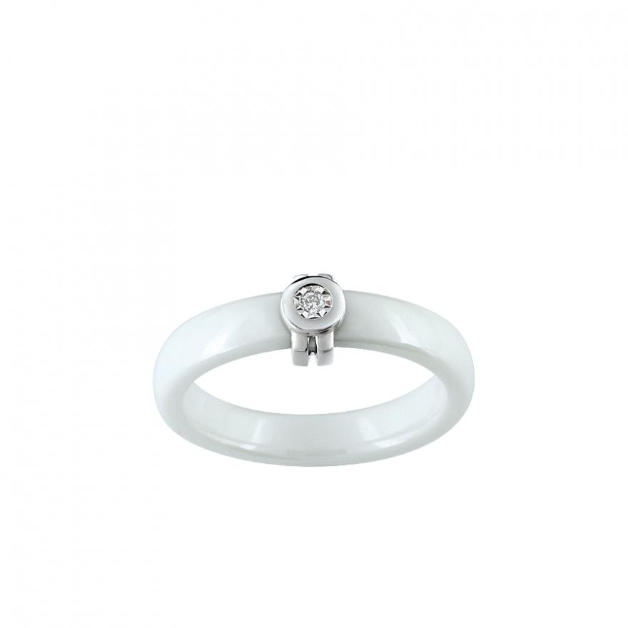 ultimate ceramic bague or 375 000 c ramique et diamant 09c24gcbb pour. Black Bedroom Furniture Sets. Home Design Ideas