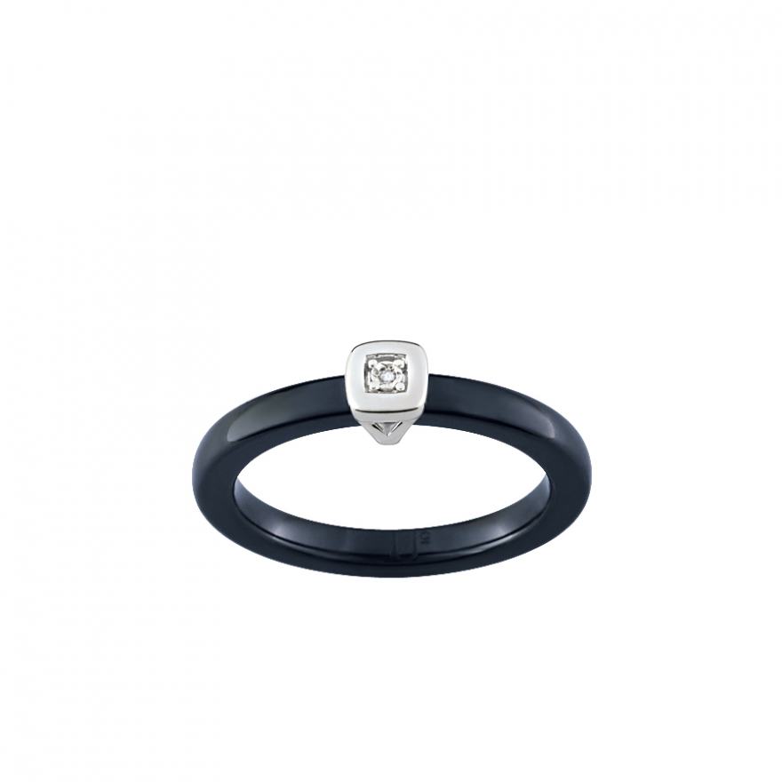 ultimate ceramic bague or 375 000 c ramique et diamant 09u04gcnb pour. Black Bedroom Furniture Sets. Home Design Ideas
