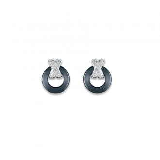 Ultimate Ceramic - Boucles d'oreilles OR 375/000, Céramique, Clous