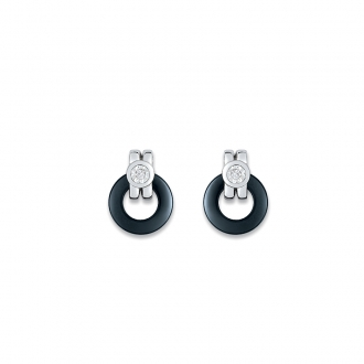 Ultimate Ceramic - Boucles d'oreilles OR 375/000, Céramique, Clous