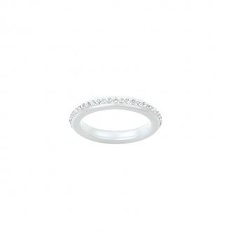 Ultimate Ceramic - Bague Argent 925/000, Céramique Blanche et Cristal
