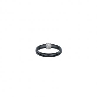 Ultimate Ceramic - Bague Argent 925/000, Céramique Noire et Oxyde de Zirconium
