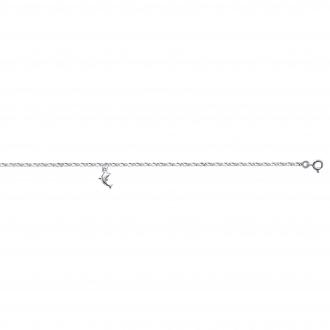 Chaine de cheville Carador Argent 925/000 Dauphin 25 cm