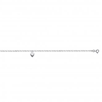Chaine de cheville Carador Argent 925/000 Cœur 25 cm