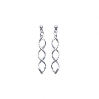 Boucles d'oreilles Carador pendantes torsadées Argent 925/000