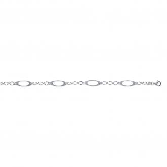 Bracelet Carador Argent 925/000 Maille Fantaisie 18 cm