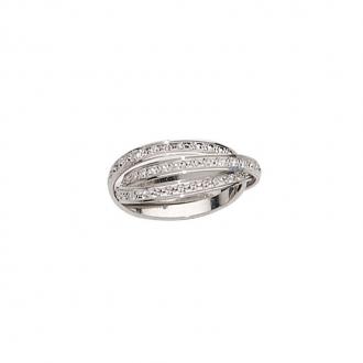 Alliance anneau entrelacé  Or blanc 750/000, 2.5 mm