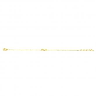 Amporelle Bracelet souple motif infini en Acier doré