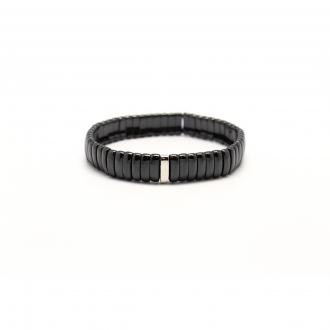 Bracelet Carador céramique noire largeur 9 mm