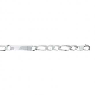 Bracelet gourmette Carador argent 925/000, maille alternée plate