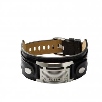 Bracelet Fossil en cuir et acier