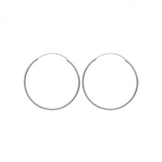 Créoles Carador argent 925/000 diamètre 4 cm