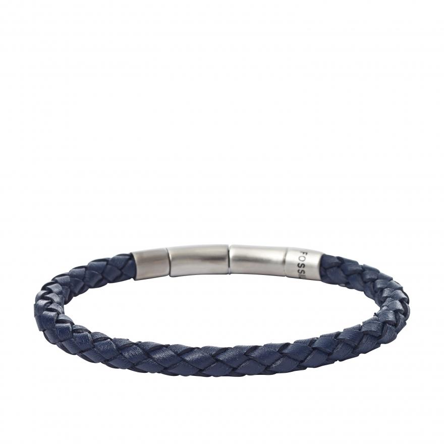 bracelet fossil en cuir tress jf01908040 pour homme. Black Bedroom Furniture Sets. Home Design Ideas