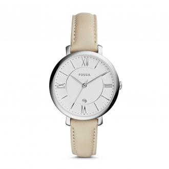 Montre Fossil Jacqueline en cuir blanc ES3793