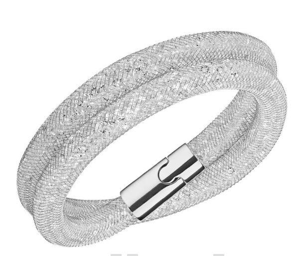 Bracelet Swarovski Stardust Deluxe Gris clair 5184183