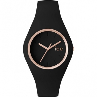 Montre Ice-Watch Ice Glam noire dorée rose medium 000980
