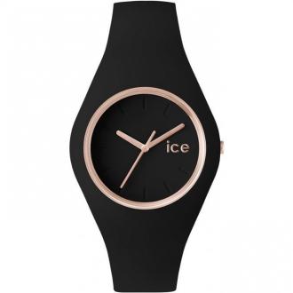 Montre Ice-Watch Ice Glam noire dorée rose medium 000980