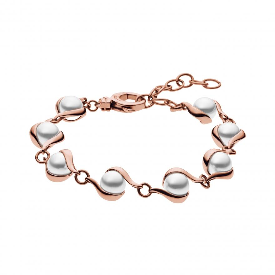 bracelet skagen sea glass dor rose skj0618791 pour femme. Black Bedroom Furniture Sets. Home Design Ideas