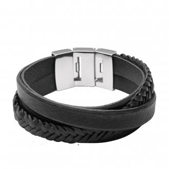 Bracelet Fossil Homme Vintage Casual noir JF02079040