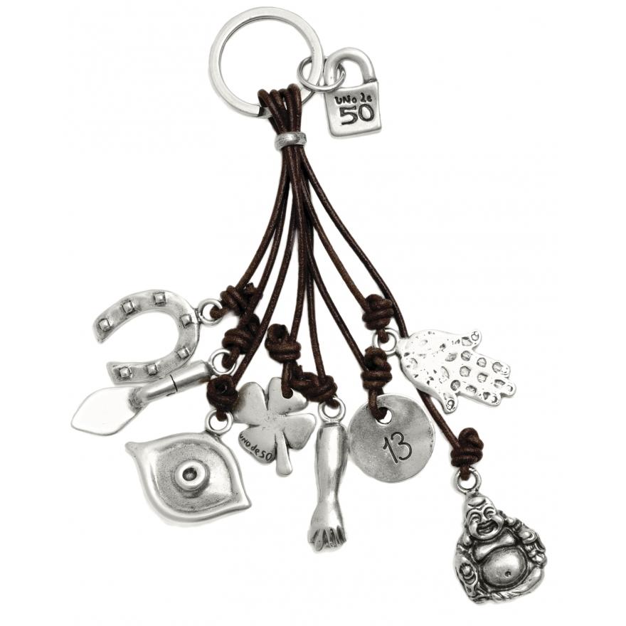 Porte clefs uno de 50 amuleto lla0124mtx pour femme - Porte clef pour ne pas perdre ses clefs ...