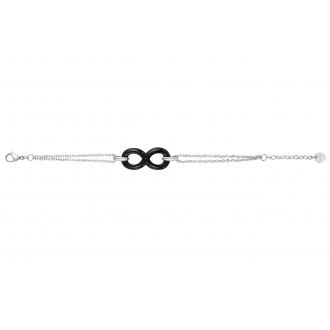 Bracelet souple Amporelle Infini acier et céramique