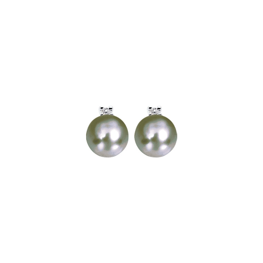 Boucle d'oreille or perle