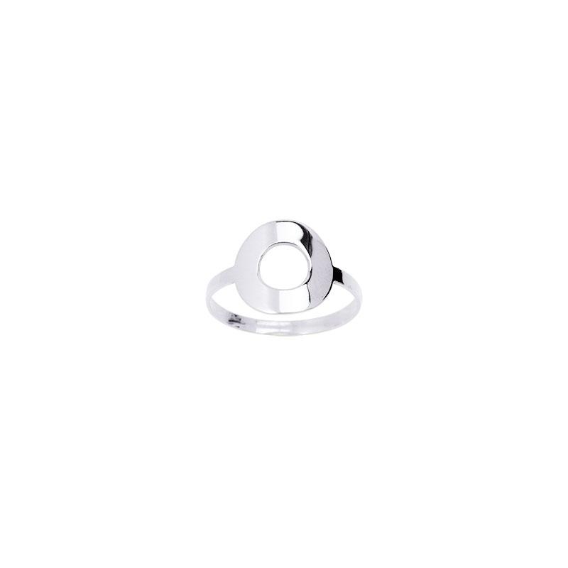 Carador - Bague Or Blanc Cercle 9K11286GR