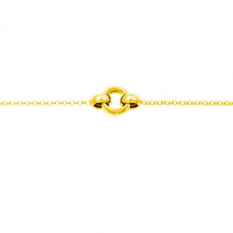 Bracelet Or Jaune 375/000 Anneaux 9K7720-18