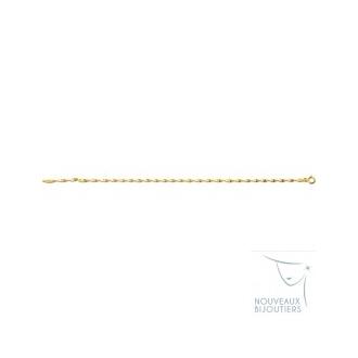 Bracelet Or jaune 375/000 Maille Torsade 610061