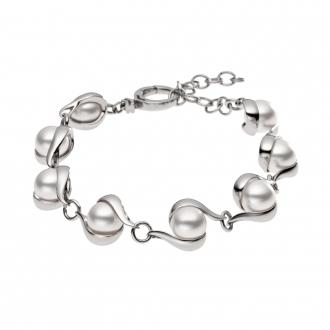 Bracelet Skagen acier argenté et pierre blanche. SKJ0092040