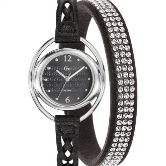 MONTRE GO GIRL ONLY CUIR NOIR 698981