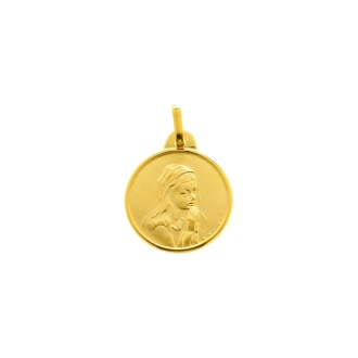 Médaille or 375/000 vierge