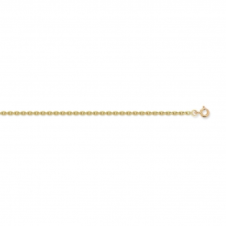 Carador - Collier or jaune 375/000 maille forçat diamantée